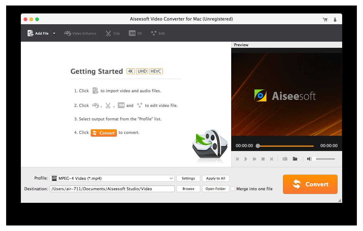 Video Converter for Mac - Convert MOV/WMV/MP4/AVI/MPEG/MTS