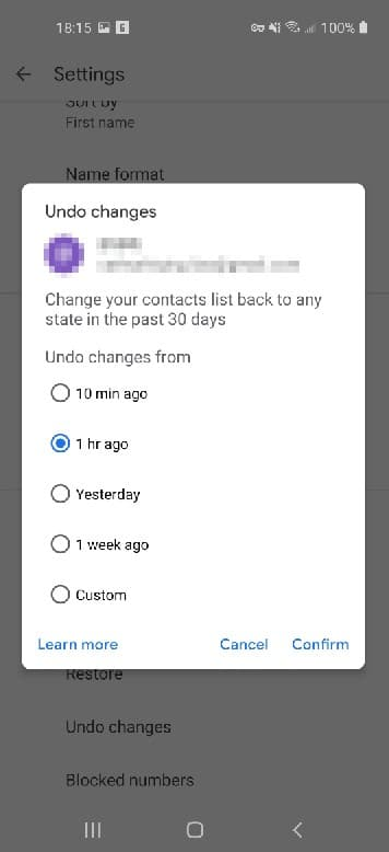 Just disappeared contacts my Android Contacts