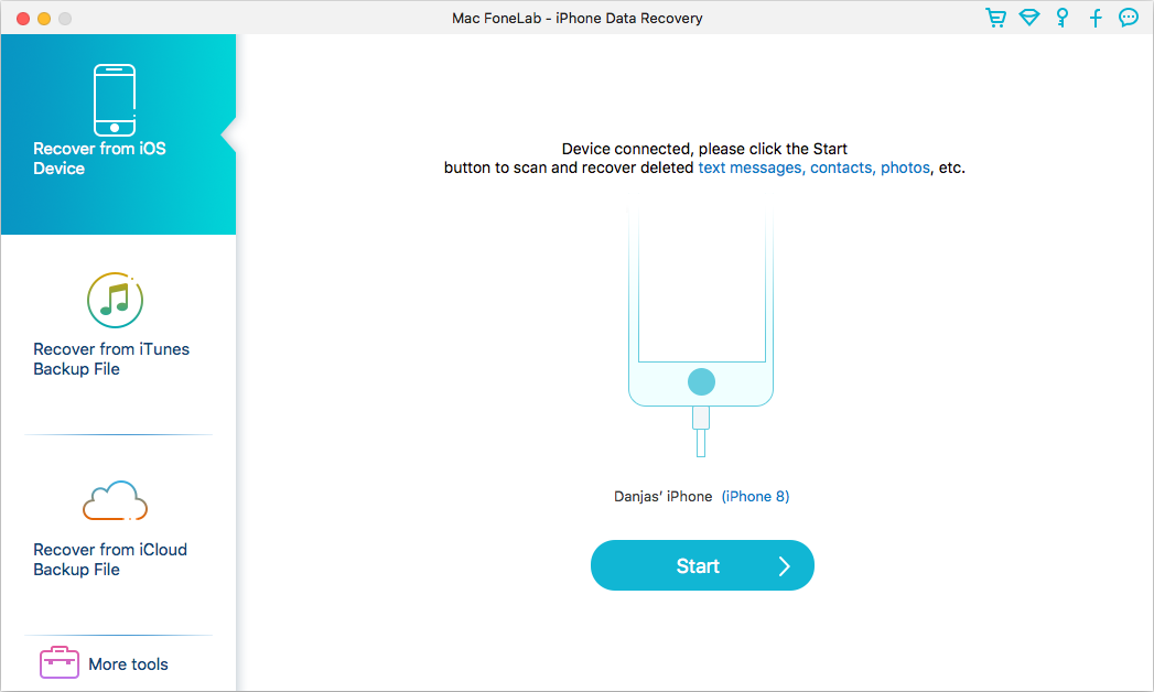 iOS Data Recovery for Mac - Recover Lost Data for iPhone, iPad, iPod