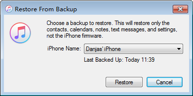 Restore Contacts from iTunes Backup to iPhone Without Data