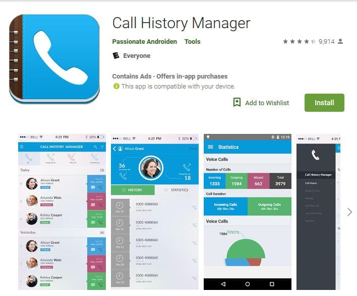 retrieve call history