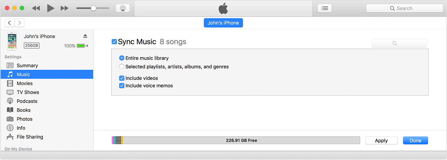 sync iphone to itunes